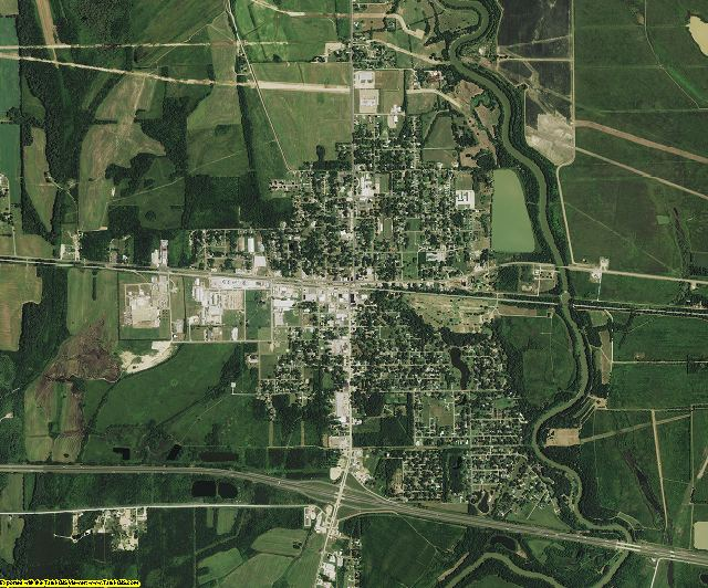 Richland County, Louisiana aerial photography