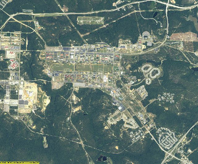 Richmond County, Georgia aerial photography