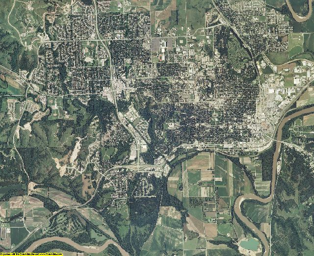 Riley County, Kansas aerial photography
