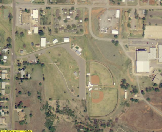 Roger Mills County, OK aerial photography detail
