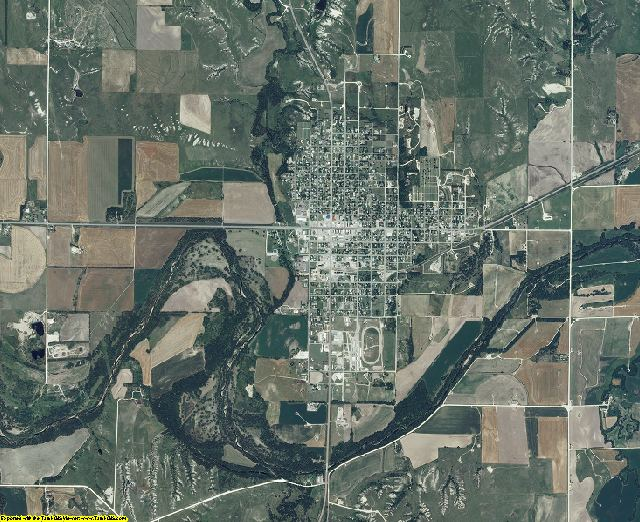 Rooks County, Kansas aerial photography