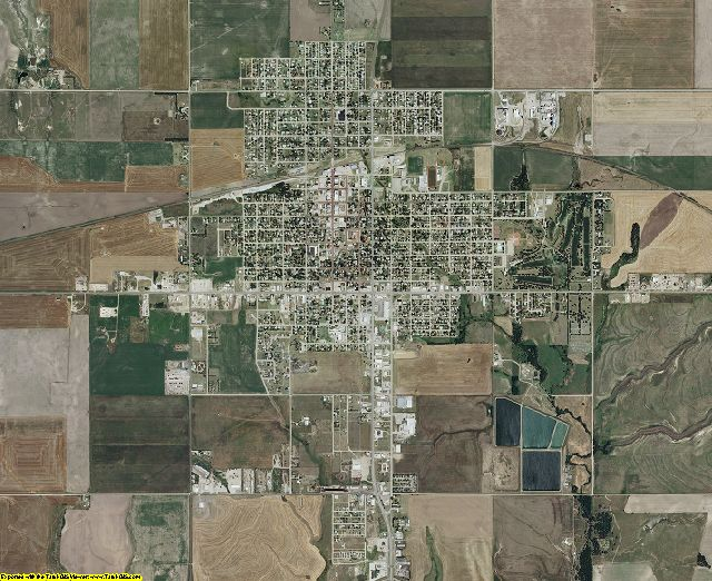 Russell County, Kansas aerial photography