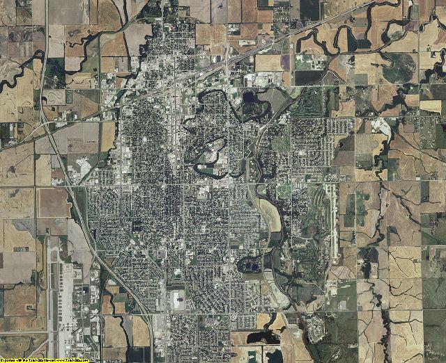 Saline County, Kansas aerial photography