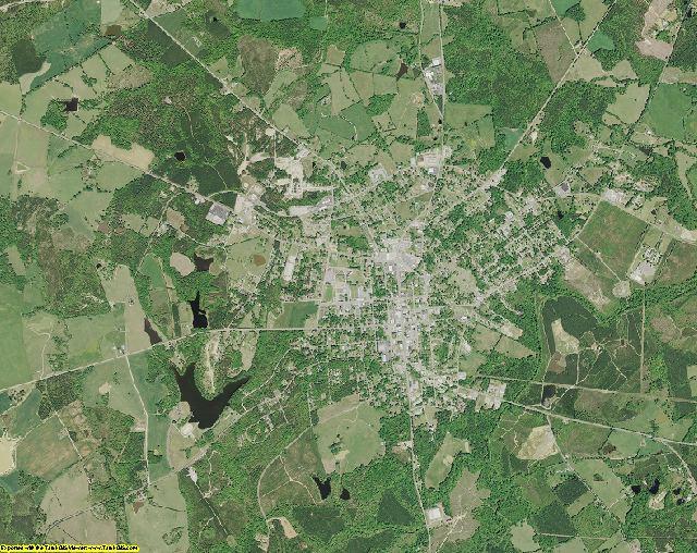Saluda County, South Carolina aerial photography