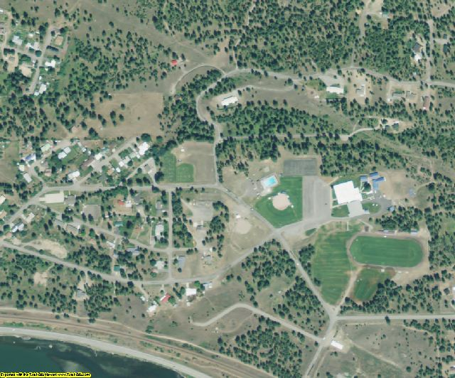 Sanders County, MT aerial photography detail