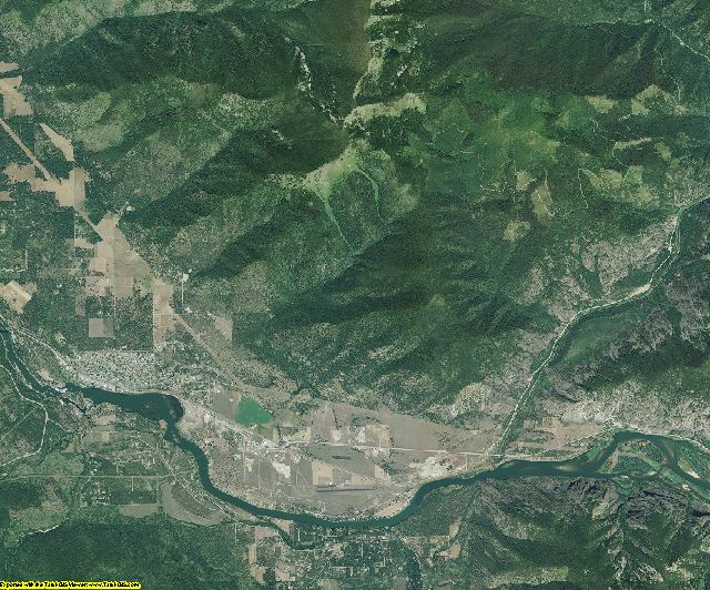 Sanders County, Montana aerial photography
