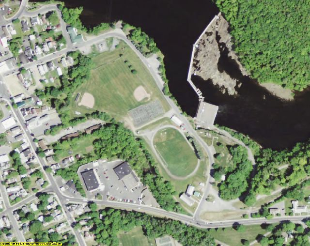 Saratoga County, NY aerial photography detail