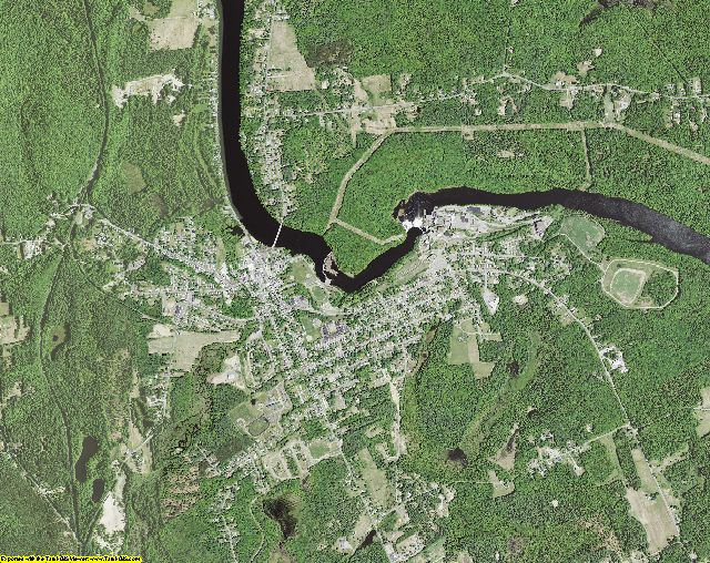 Saratoga County, New York aerial photography
