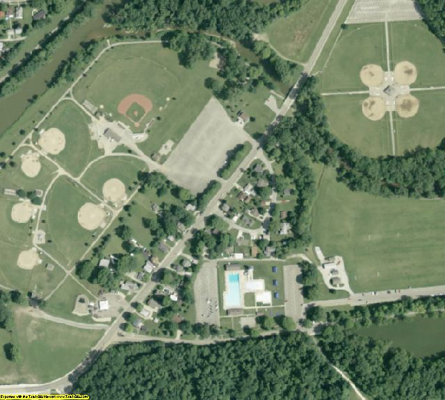 Shelby County, OH aerial photography detail