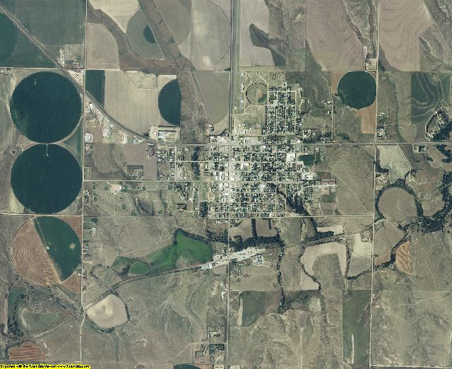 Sheridan County, Kansas aerial photography