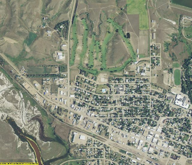 Sheridan County, MT aerial photography detail