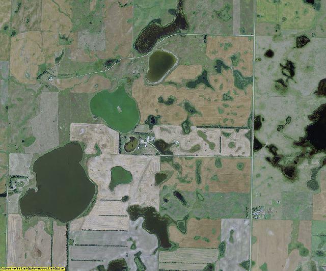 Sheridan County, North Dakota aerial photography