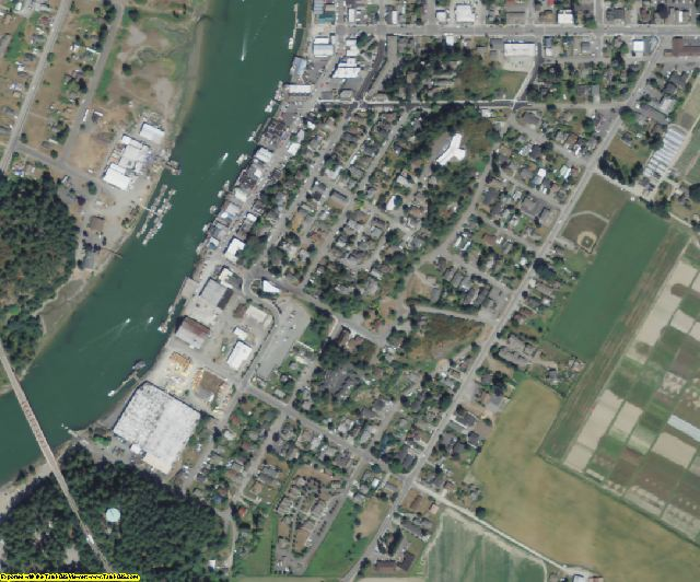 Skagit County, WA aerial photography detail