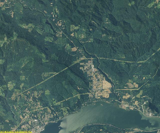 Skamania County, Washington aerial photography
