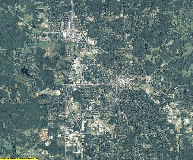 Spalding County, Georgia aerial photography