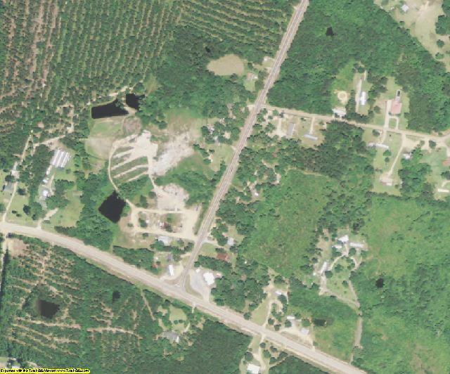 St. Helena County, LA aerial photography detail