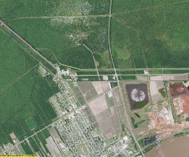 St. James County, Louisiana aerial photography