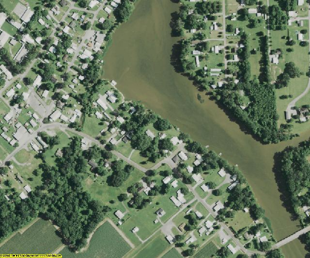 St. Martin County, LA aerial photography detail