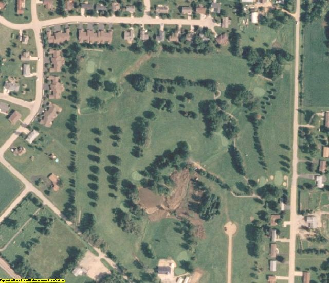 Stephenson County, IL aerial photography detail