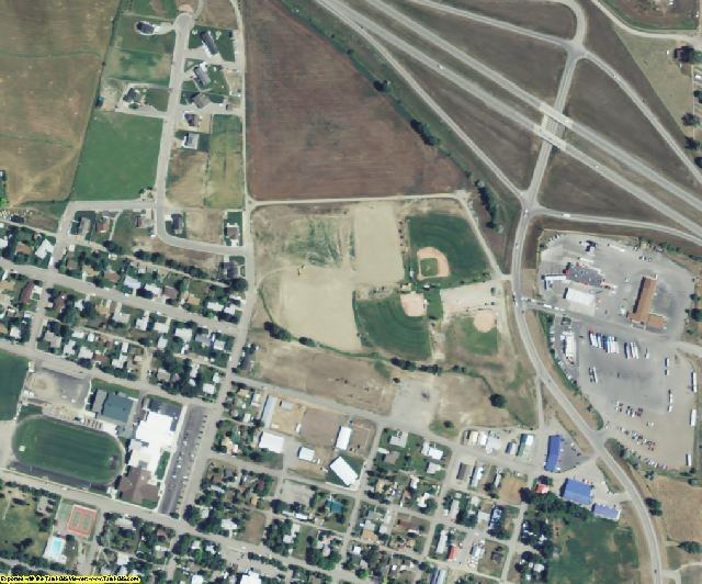 Stillwater County, MT aerial photography detail