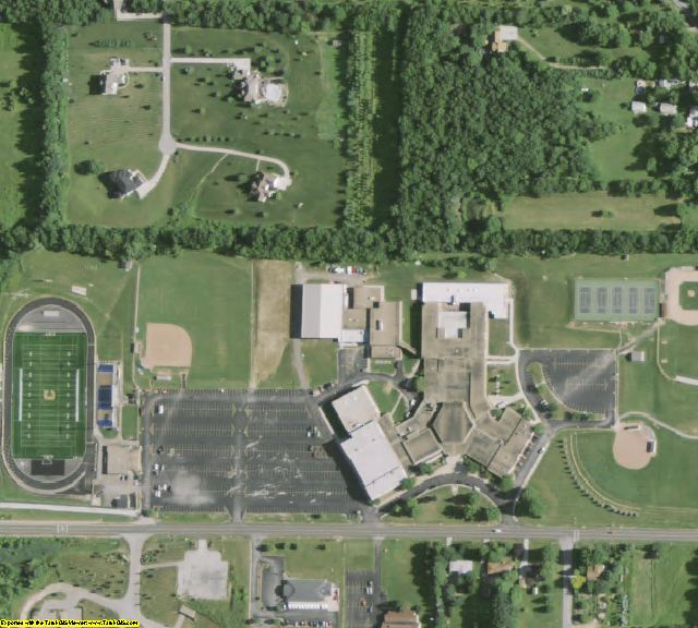 Summit County, OH aerial photography detail