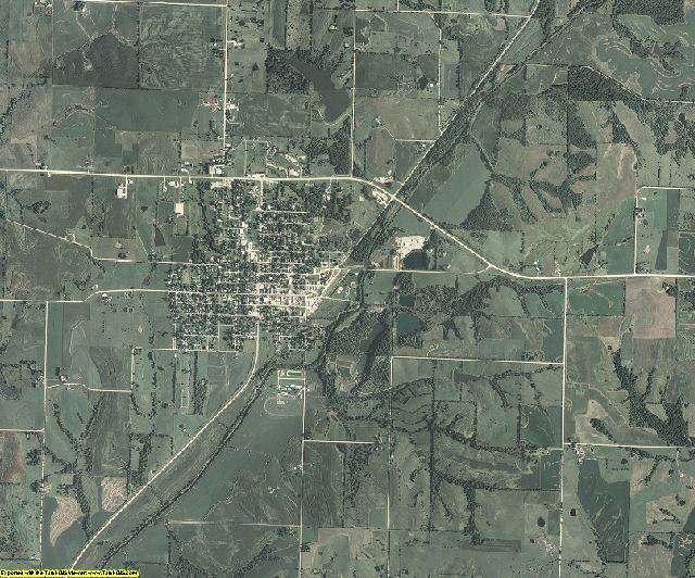 Taylor County, Iowa aerial photography