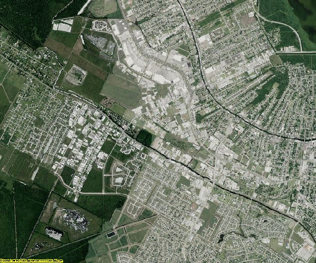 Terrebonne County, Louisiana aerial photography