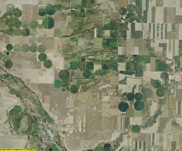 Teton County, Montana aerial photography