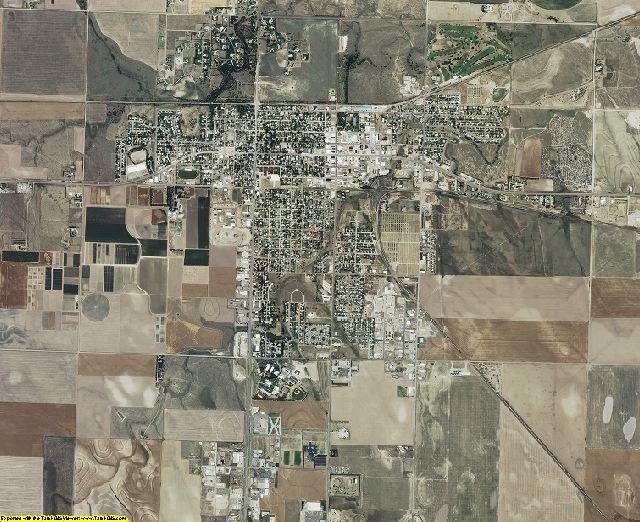 Thomas County, Kansas aerial photography