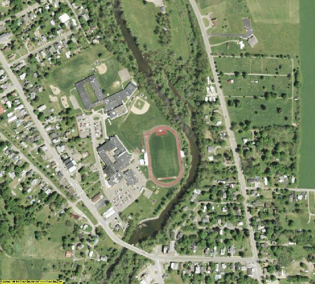 Tioga County, NY aerial photography detail