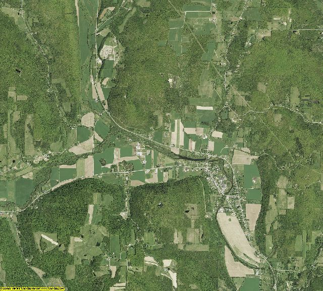 Tioga county new york aerial photography on cd