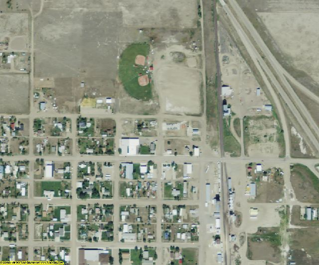 Toole County, MT aerial photography detail