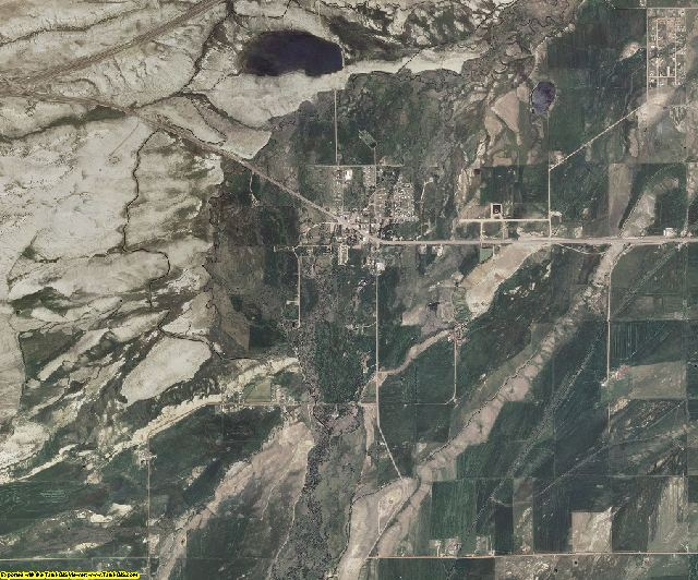Uinta County, Wyoming aerial photography