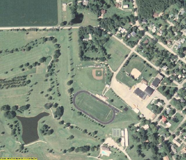 Van Buren County, IA aerial photography detail