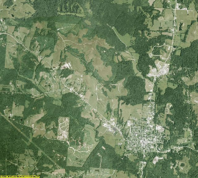 Vinton County, Ohio aerial photography