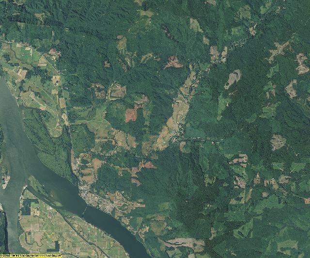 Wahkiakum County, Washington aerial photography
