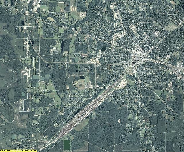 Ware County, Georgia aerial photography