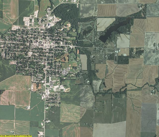 Washington County, Illinois aerial photography