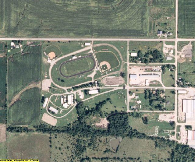 Wayne County, IA aerial photography detail
