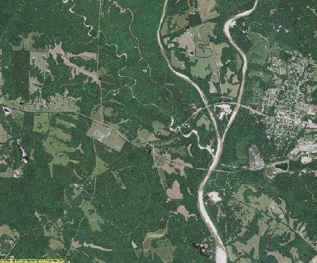 West Feliciana County, Louisiana aerial photography