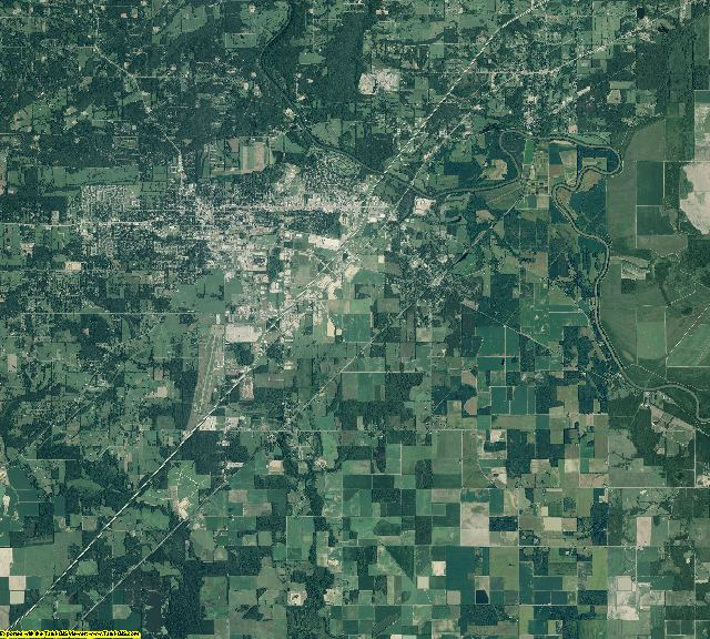White County, Arkansas aerial photography