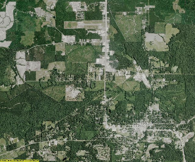 Winn County, Louisiana aerial photography