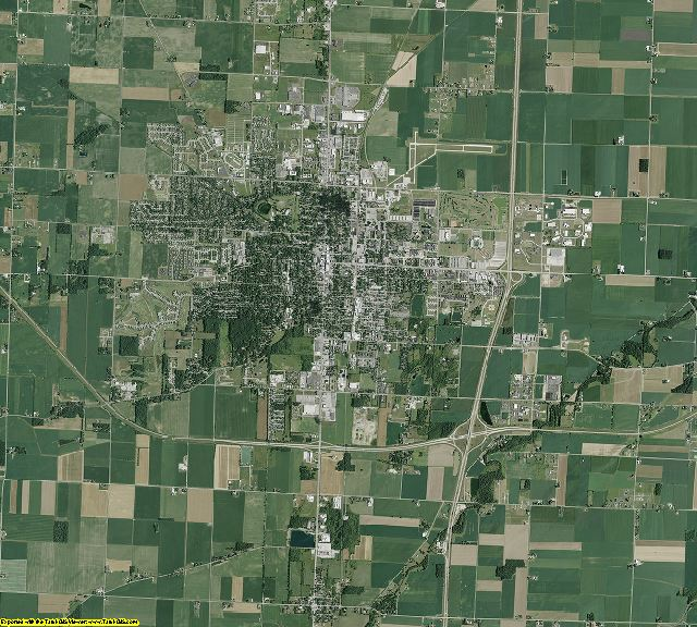 Wood County, Ohio aerial photography