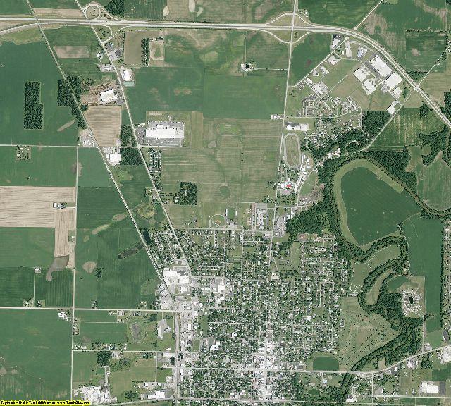 Wyandot County, Ohio aerial photography