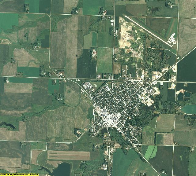 Yellow Medicine County, Minnesota aerial photography