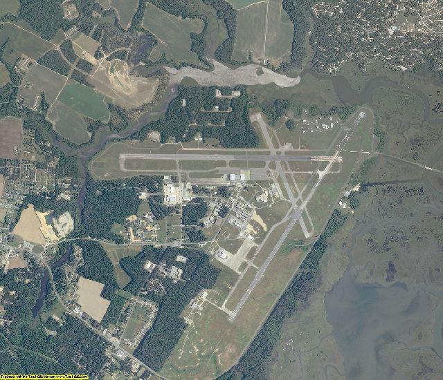 Accomack County, Virginia aerial photography