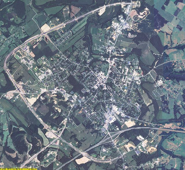 Adair County, Kentucky aerial photography