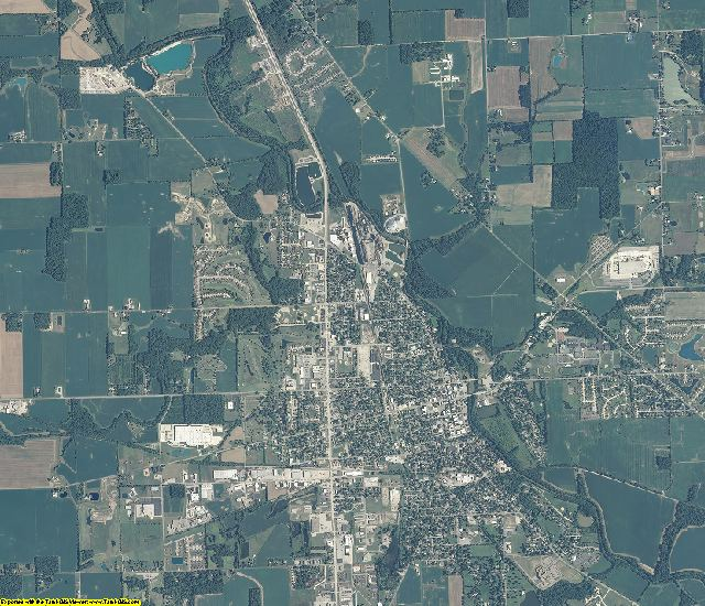 Adams County, Indiana aerial photography