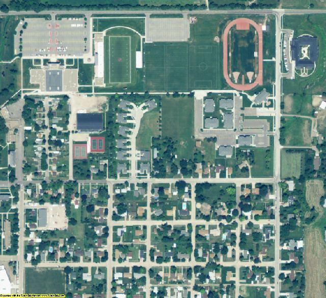 Adams County, NE aerial photography detail