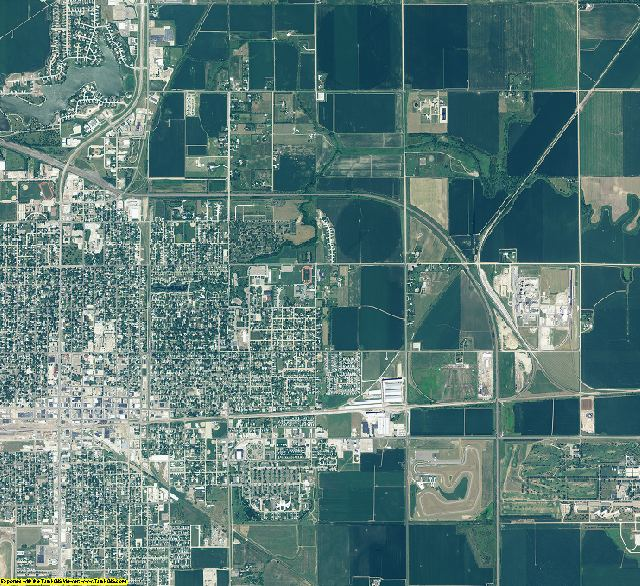 Adams County, Nebraska aerial photography